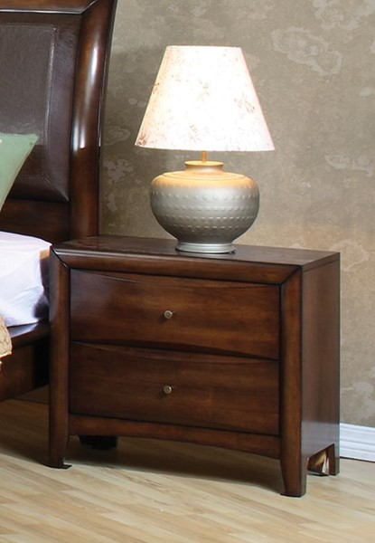 Hillary Transitional Warm Brown Night Stand CST-200642