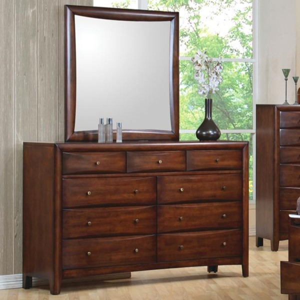 Hillary Transitional Warm Brown Dresser & Mirror CST-200643-200644