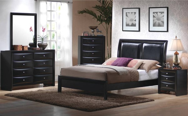 Briana Transitional Black Master Bedroom Set CST-20070