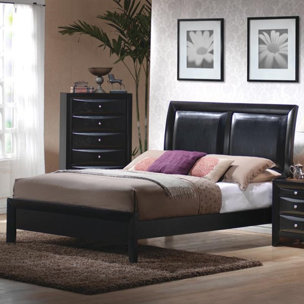 Briana Transitional Black Wood Queen Bed CST-200701Q