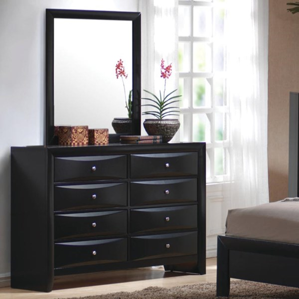 Briana Transitional Black Wood Drawer Dresser CST-200703