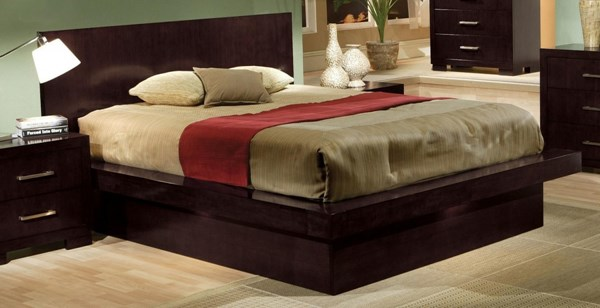 Jessica Contemporary Cappuccino Queen Platform Bed CST-200711Q