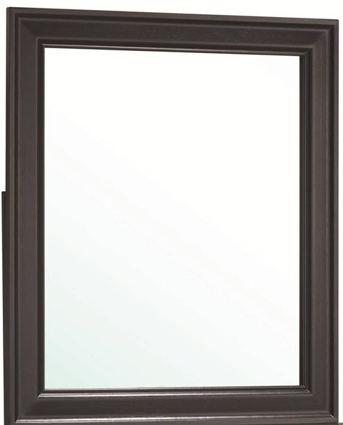 Louis Philippe Classic Black Wood Glass Mirror CST-201074