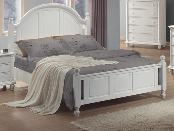 Kayla Transitional White Beds CST-201181-BED-VAR