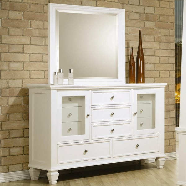 Sandy Beach Casual White Wood Drawer Dresser CST-201303