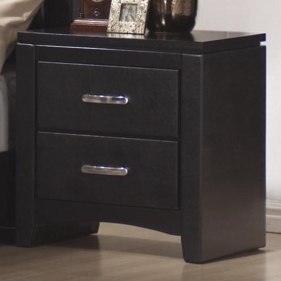 Dylan Transitional Black Wood Night Stand CST-201402
