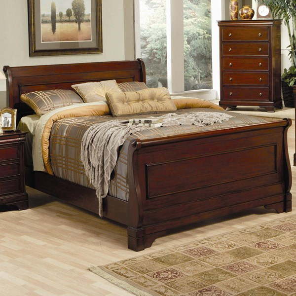 Versailles Traditional Deep Mahogany Beds CST-20148-Beds