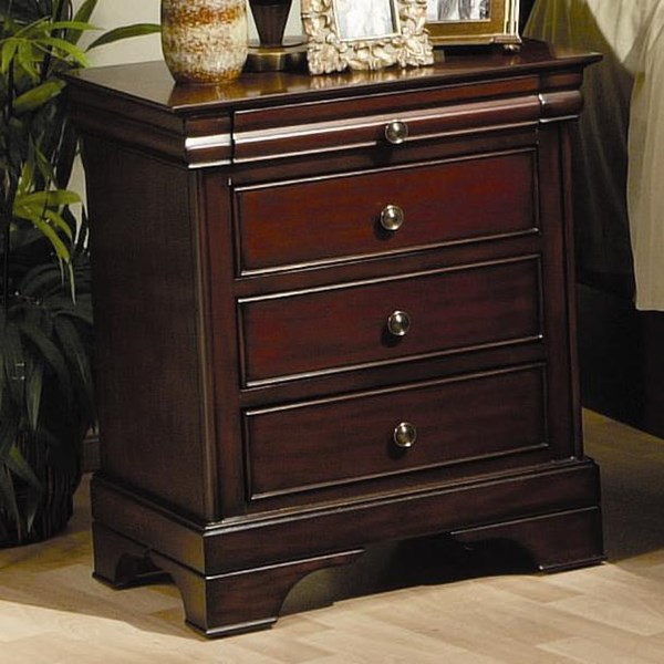 Versailles Traditional Deep Mahogany Night Stand CST-201482