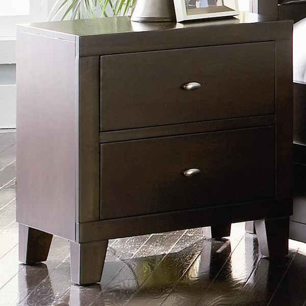 Lorretta Transitional Cappuccino Wood Night Stand CST-201512
