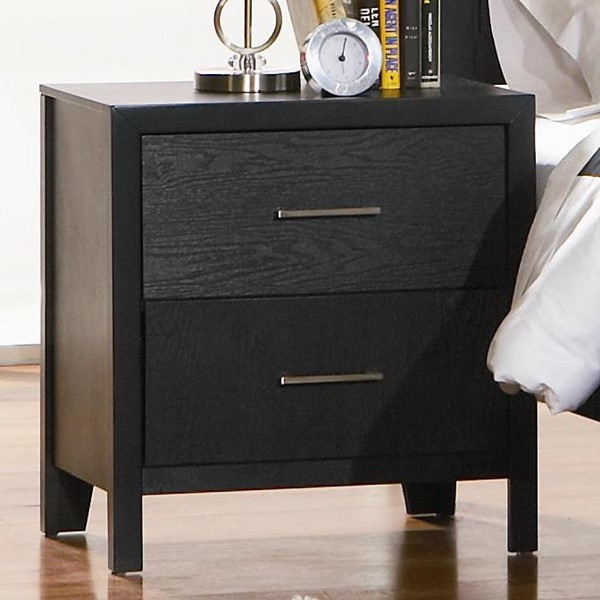 Grove Casual Black Wood Drawer Night Stand CST-201652