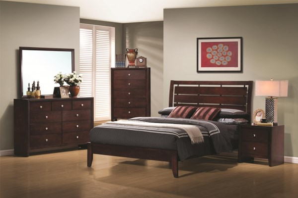 Serenity Transitional Merlot 2pc Bedroom Set W/Twin Bed CST-201971-BR-S3