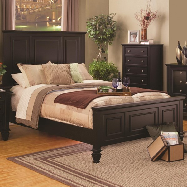 Sandy Beach Country Cappuccino Queen Bed CST-201991Q