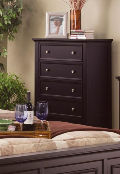 Sandy Beach Casual Cappuccino Wood Drawer Chest CST-201995
