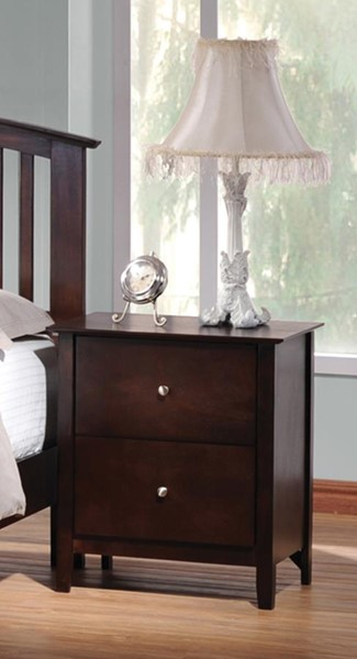 Tia Transitional Cappuccino Wood Night Stand CST-202082