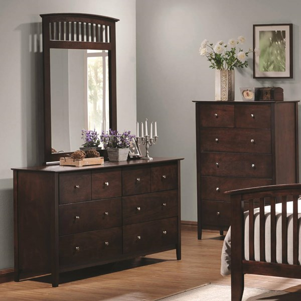Tia Transitional Cappuccino Wood Dresser CST-202083