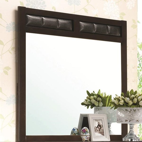 Carlton Transitional Cappuccino Wood Mirror CST-202094