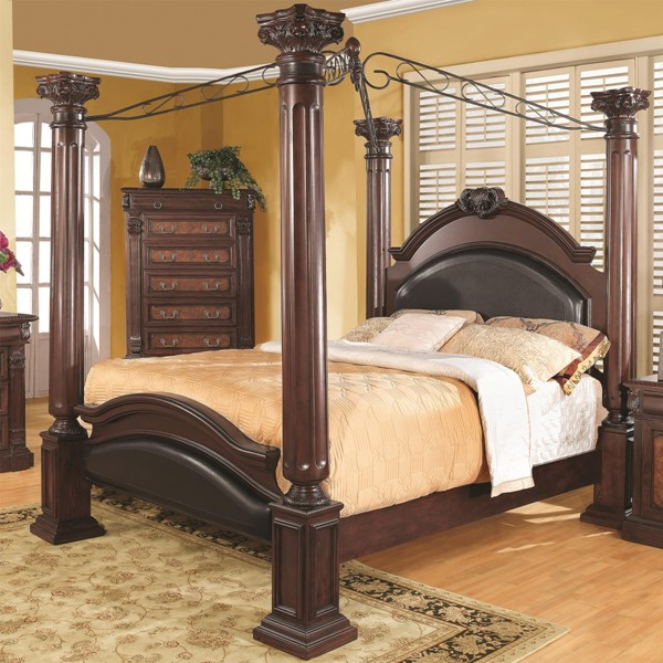 Grand Prado Traditional Cappuccino Wood Cal King Bed CST-202201KW