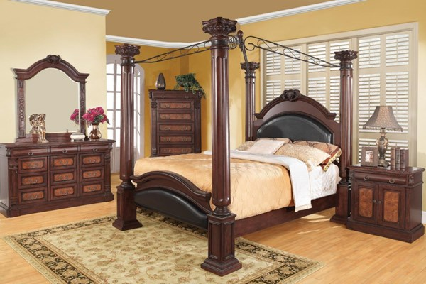 Grand Prado Traditional Cappuccino Wood 2pc Bedroom Set W/Queen Bed CST-202201-BR-S1