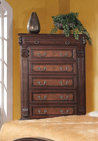 Grand Prado Traditional Cappuccino Wood Chest CST-202205