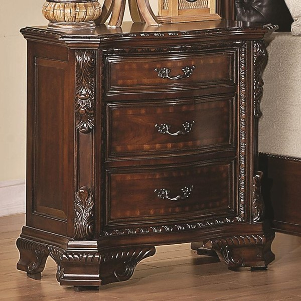 Maddison Traditional Cappuccino Wood Night Stand CST-202262