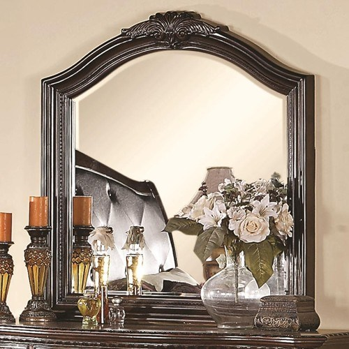 Maddison Traditional Cappuccino Wood Mirror CST-202264