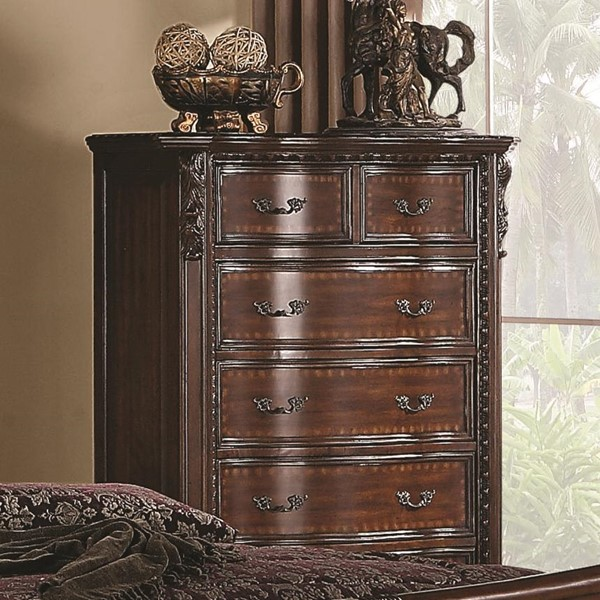 Maddison Traditional Cappuccino Wood Chest CST-202265
