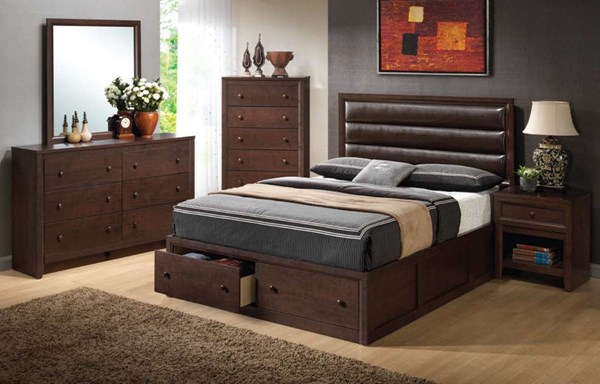 Remington Transitional Cappuccino Wood 2pc Master Bedroom W/King Bed CST-202311-S1