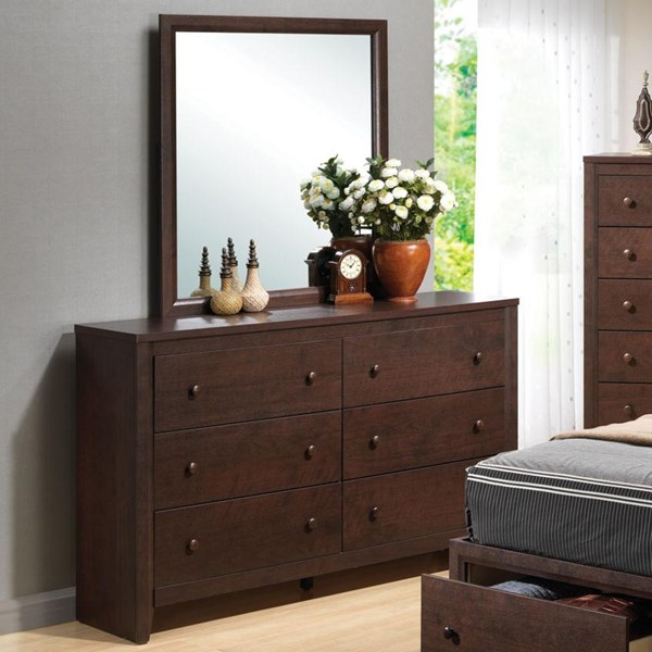 Remington Transitional Cappuccino Wood Dresser CST-202313