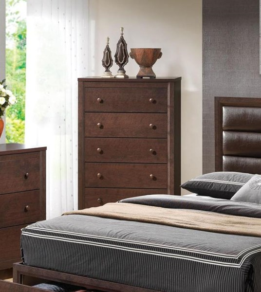 Remington Transitional Cappuccino Wood Chest CST-202315