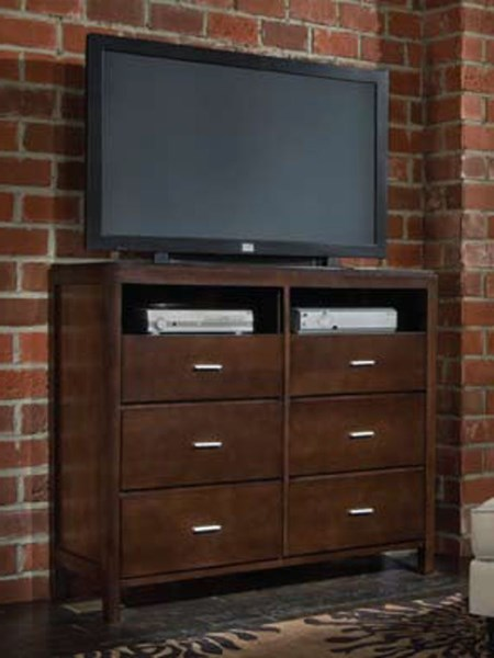 Spencer Transitional Cappuccino Media Chest CST-202326