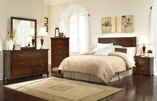 Tatiana Warm Brown Wood Bedroom Set CST-202391-BD