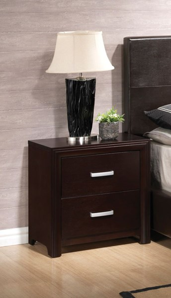 Andreas Transitional Cappuccino Wood Nightstand CST-202472N