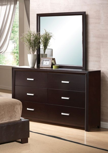 Andreas Transitional Cappuccino Wood Mirror CST-202474N