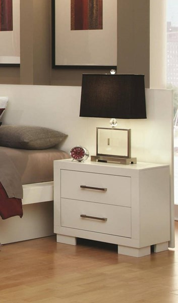 Coaster Furniture Jessica White Night Stand with Back Panel CST-202992-p