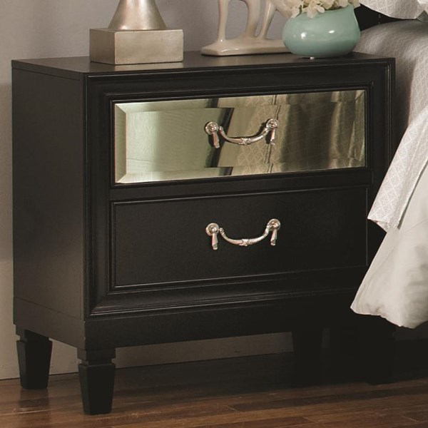 Devine Black Wood Night Stand CST-203122