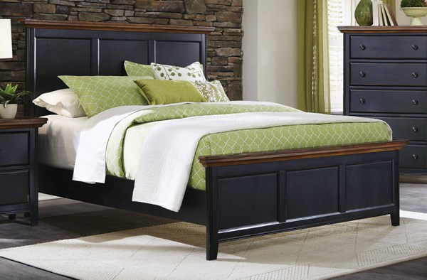Mabel Traditional Merlot Black Wood Beds CST-203151-BEDS