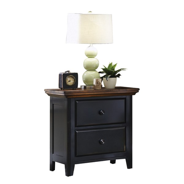 Mabel Traditional Merlot Black Wood Night Stand CST-203152