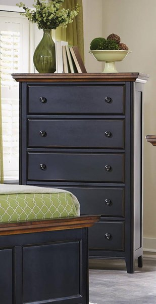 Mabel Traditional Merlot Black Wood Chest CST-203155