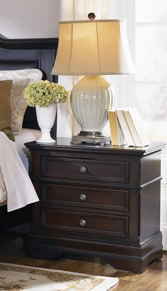 Cambridge Traditional Cappuccino Wood Night Stand CST-203192