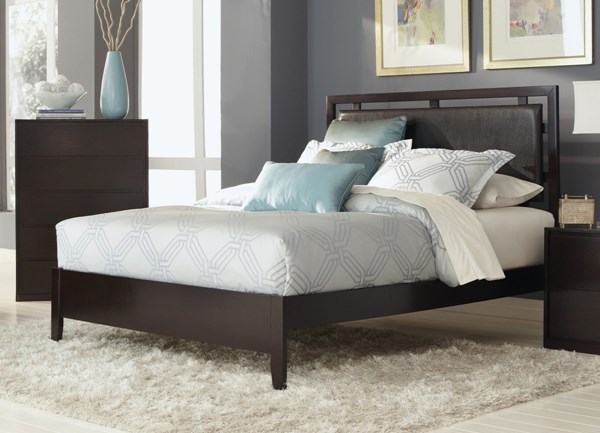 Hudson Contemporary Espresso Wood Leatherette Beds CST-203251-BEDS