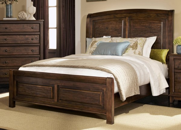 Laughton Rustic Cocoa Brown Wood Queen Bed CST-203260Q