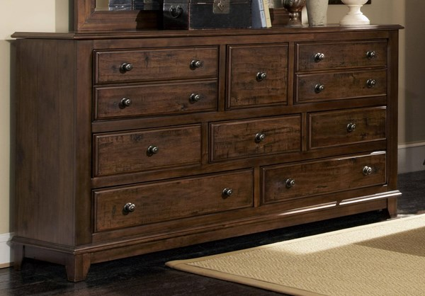 Laughton Rustic Cocoa Brown Wood Dresser CST-203263