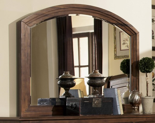 Laughton Traditional Cocoa Brown Wood Glass Mirror CST-203264