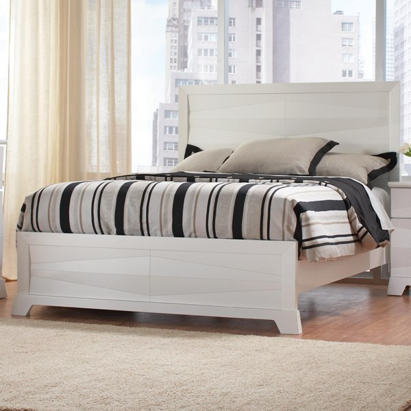 Karolina Contemporary Glossy White Wood Beds CST-203461-BEDS