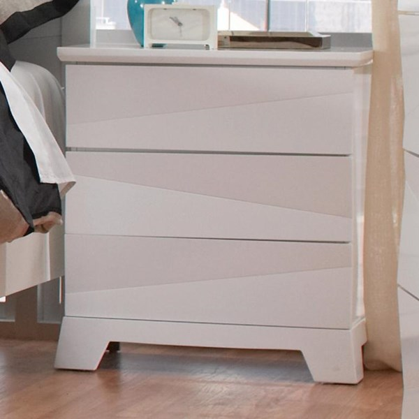 Karolina Contemporary Glossy White Wood Night Stands CST-203462-72-VAR