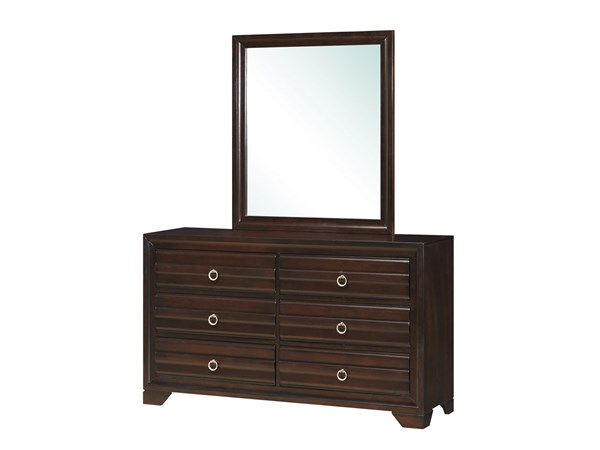 Bryce Transitional Cappuccino Wood Mirror CST-203474