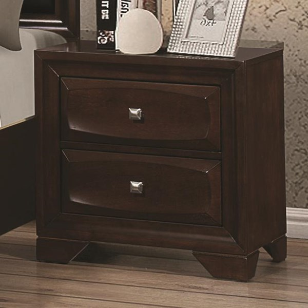 Jaxson Transitional Cappuccino Wood Night Stand CST-203482