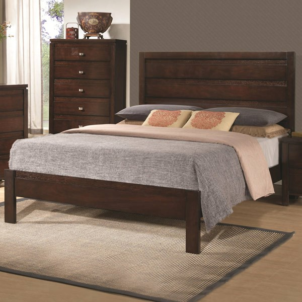 Cameron Transitional Rich Brown Wood Cal King Bed CST-203491KW