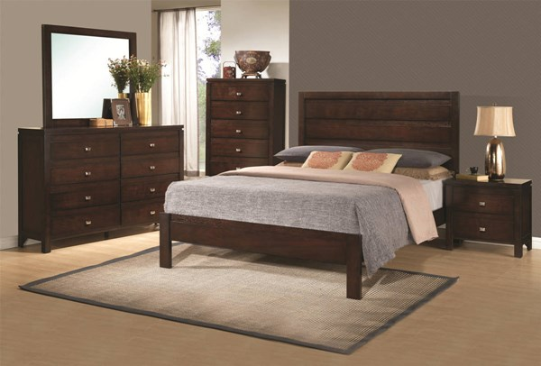 Cameron Transitional Rich Brown Wood 2pc Bedroom Sets CST-203491-BR-S