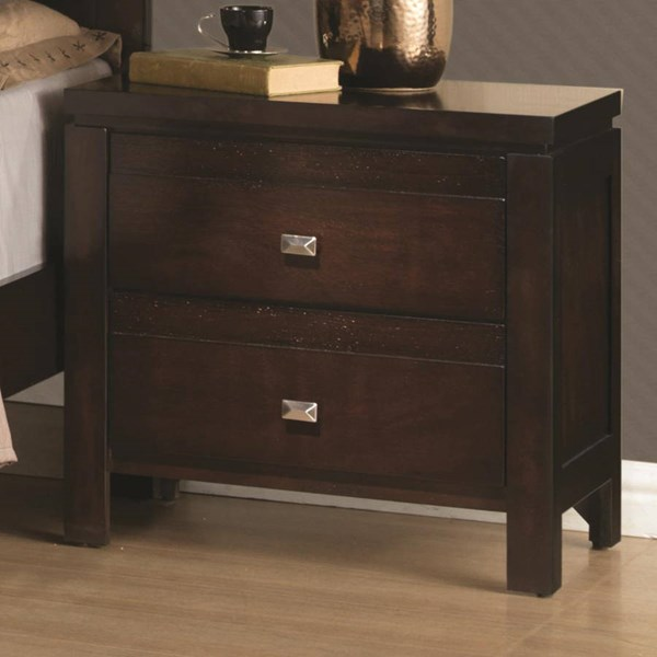 Cameron Transitional Rich Brown Wood Night Stand CST-203492